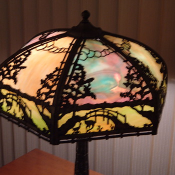 Slag Glass Table Lamp...