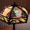 Slag Glass Table Lamp...