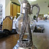 pewter/glass carafe set