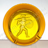 Amber Glass Trojan Ashtray