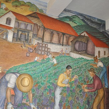 Coit Tower Mural - Firefighting