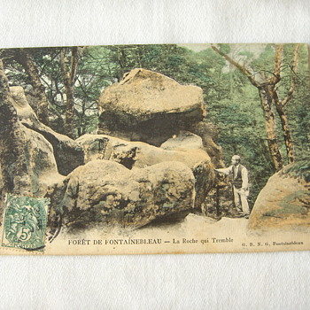 Antique 1907 Stamped French Postcard Fontainebleau - Found in Packing Material....