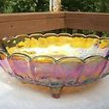 1971 Fenton Collector Plate & Indiana Carnival Bowl - Glassware