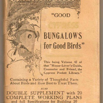 1921 - Cypress Bird-House Book - Books