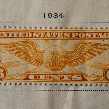 1934 6 Cent US Air Mail Stamp - Stamps