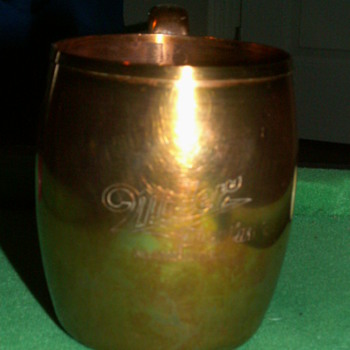 1950's West Bend SOLID COPPER Beer Mug - Breweriana
