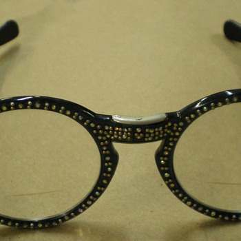 Vintage Rhinestone Folding Eyeglasses
