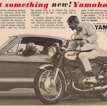 1967 - Yamaha Motorcycle Advertisement - Advertising
