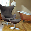 Original Arne Jackobson Egg chair w/matching foot stool