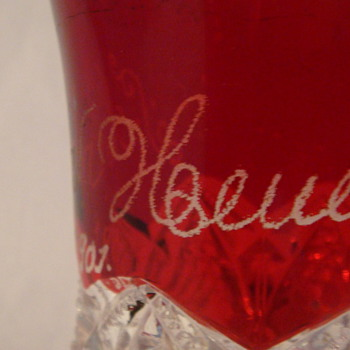 1901 glass ruby red. - Glassware