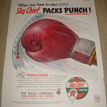 "Texaco Sky Chief ""Packs Punch"" Magazine Ad - Advertising"