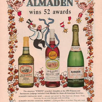 1954 Almaden Wines Advertisement - Advertising