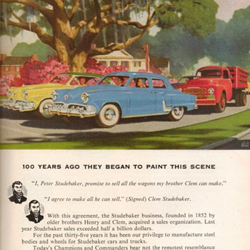 1952 - Budd Co. / Studebaker Advertisement - Advertising