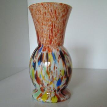 Art Deco spatter vase