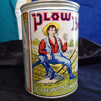 Plow Boy tin  - Tobacciana