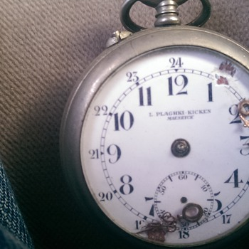 mystery open face pocket watch