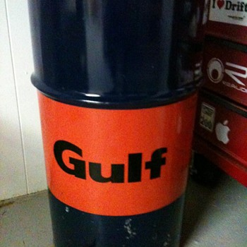 gulf grease can.  - Petroliana
