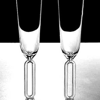 RIEDEL MILLENIUM 2000 CHAMPAGNE FLUTES - Art Glass