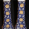 Matching Pair Czech. Cobalt Blue and Gold Vases