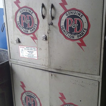 P & D Ignition parts cabinet - Advertising