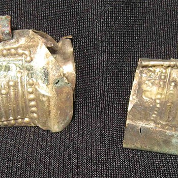Vintage Ancient Mughal Broken Silver Relic Taweez Locket Pendant
