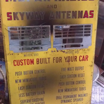 1950s Mopar Radios and Skyway Antenna ADVERTISING SIGN (NEED HELP!!!) - Signs