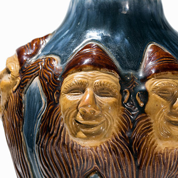 Hoganas Dwarves Vase for 1897 Arts & Industry Exhibition in Stockholm - Art Nouveau
