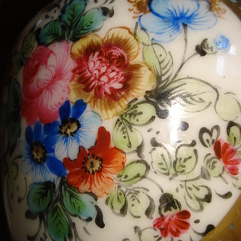 Probably a Samson porcelain urn hand painted - Pottery