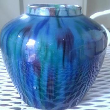 Awaji Japanese pottery vase
