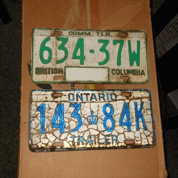 Canadian License Plates from Canada's Caperkid