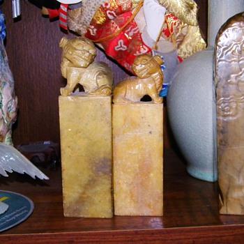 Antique Japanese Aoki Family Lion Seal My Great Grandfathers Seal
