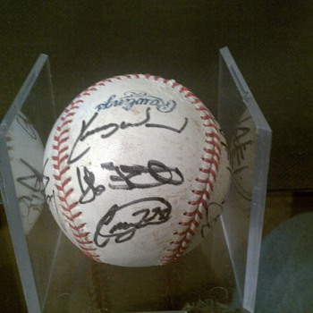 Team signed baseball - but which one?
