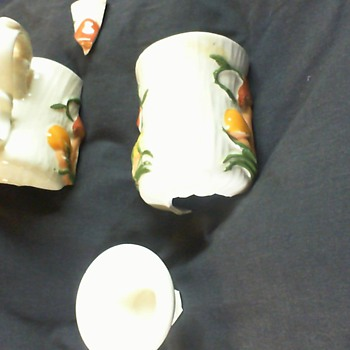 grandmas rick hamlet 1982 mushroom mug - Art Pottery