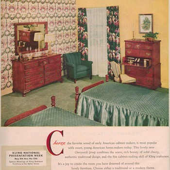 1950 Kling Furniture Advertisements - Advertising