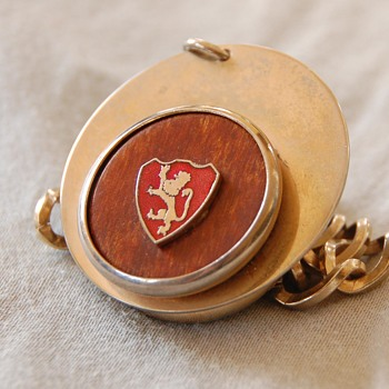 Bracelet with a Heraldic Lion Double Sided Charm? Key chain? - Fine Jewelry