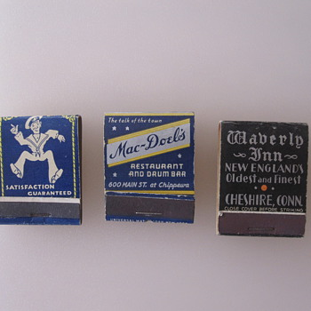 Vintage Matchbooks - Tobacciana