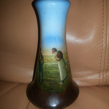 THE ANGELUS PAINTING ON BUD VASE - Art Pottery