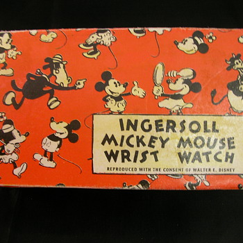 Mid 30's 'English' Mickey Mouse Wristwatch Box - Wristwatches