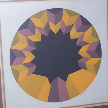 Marko Spalatin mid Century Signed #'d  Serigraph Pamul II