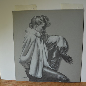 Film Noir Painting/Drawing Help with Artist ID Please - Fine Art