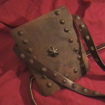 1910-1920's Navajo Medicine Man's Leather Pouch