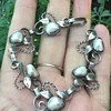 Gladys and Charles Mumford Silver and Blister Pearl Bracelet?