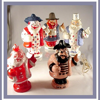 Vintage Hard Plastic Holiday Toys