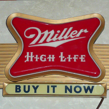 Miller High Life Beer Light Up Sign 1950's