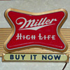 Miller High Life Beer Light Up Sign 1950&#039;s