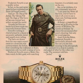 1978 Rolex Wristwatch Advertisement