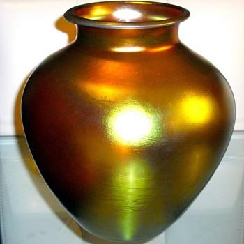 Steuben Gold Aurene Vase - Art Glass