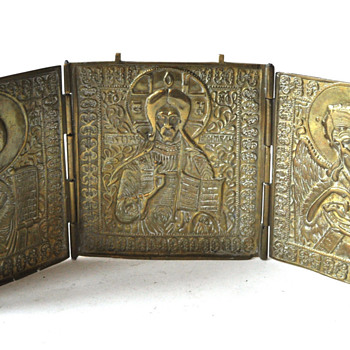 Russian Folding Triptych Icon c. 1850