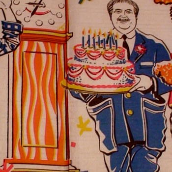 Captain Kangaroo Paper Tablecloth In Original Packaging 1966 Part II