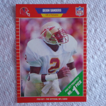 1989 Pro Set Deion Sanders ROOKIE CARD - Cards